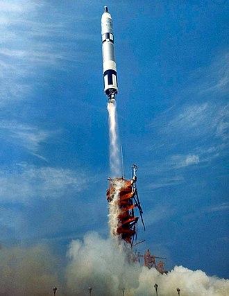 Gemini 8 - A Gemini-Titan launch vehicle lofts Gemini 8 into orbit, March 16, 1966.