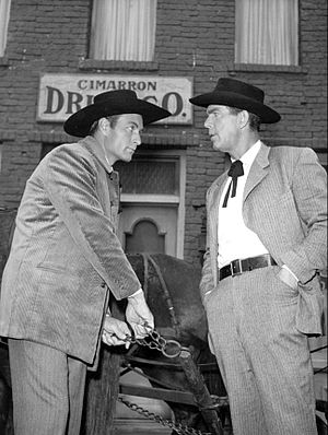 George Montgomery (actor) - George Montgomery and Fred MacMurray on TV's Cimarron City (1958)