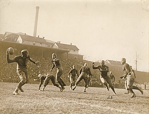 Forward pass - A pass at the 1921 Georgia Tech-Auburn game.