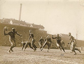 1921 Georgia Tech Golden Tornado football team - A pass during the Tech-Auburn game