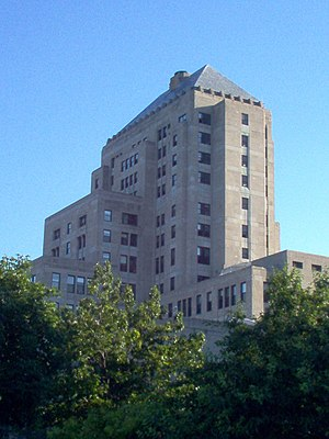 Mundelein College - Mundelein College Skyscraper Building as seen from the rear, now part of Loyola University Chicago
