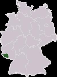 Tyskland med Saarland har markeret