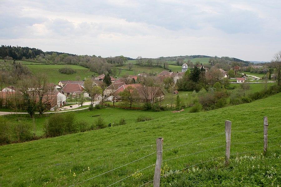 Vue de Gevresin (Doubs).