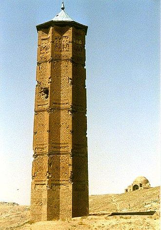 Ghazni Province - The minaret of Ghazni, built by Bahram Shah during the Ghaznavid Empire.