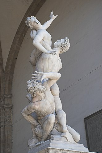 The Rape of the Sabine Women - The Kidnapping of the Sabine Women by Giambologna, in the Loggia dei Lanzi in Florence