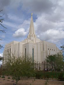 Image from the day the temple was dedicated