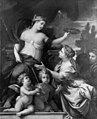 Giovanni Francesco Romanelli - Queen Christina Crowned with Laurels by Wisdom - KMSsp24 - Statens Museum for Kunst.jpg