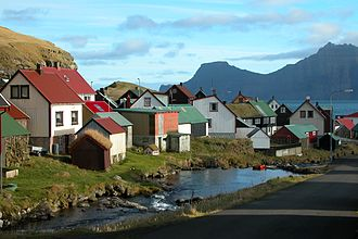Sunda, Faroe Islands - Image: Gjógv, Faroe Islands (2)