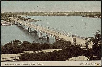 Gladesville Bridge - Image: Gladesville Bridge, Parramatta River, Sydney (8285851273)