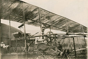AEA June Bug - Curtiss in his June Bug, July 4, 1908.
