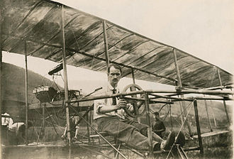AEA June Bug - Curtiss in the June Bug, July 4, 1908.