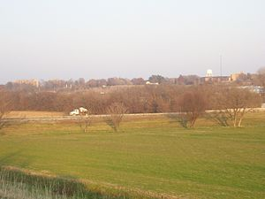 Glenwood, Iowa - The IIFMC Girls Cottage is at the far left in this view of the campus of the Glenwood Resource Center.