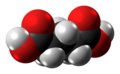 Glutaric acid molecule spacefill from xtal.png