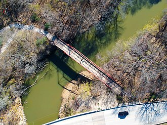 Old Alton Bridge - Image: Goatman's Bridge Old Alton Bridge from a Drone