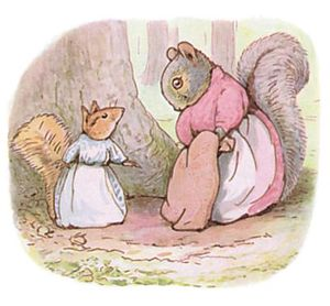 The Tale of Timmy Tiptoes - Illustration of Mrs. Chippy Hackee and Goody Tiptoes