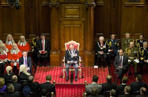 Governor-General of New Zealand - Governor-General Sir Jerry Mateparae reads the speech from the throne at the opening of Parliament, 30 April 2013