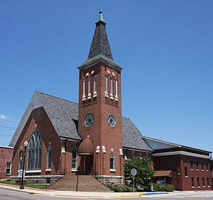 Mooresville, Indiana - Mooresville Government Center, formerly a Methodist church