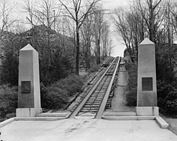 Granite Railway - General view of incline to Quarry from Northwest.jpg