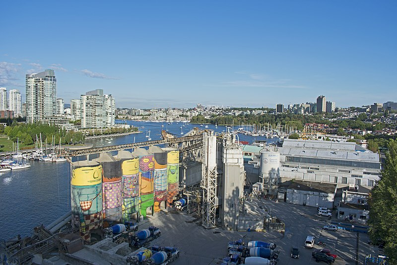 factory and waterside at granville island