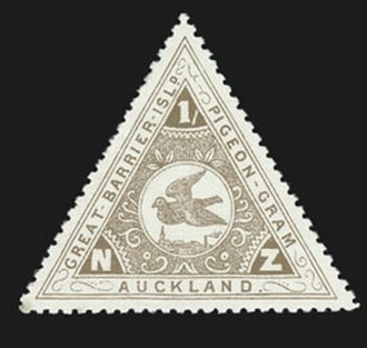 Newton, New Zealand - Stamp for early Pigeon-Gram service