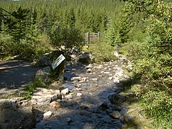 Great Divide Creek, West flows to Pacific, East flows to Arctic - panoramio.jpg