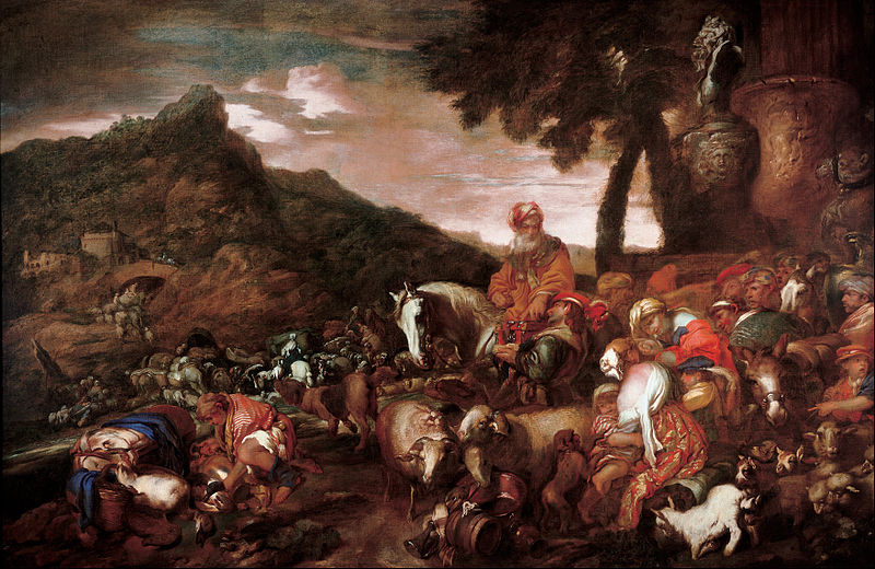 File:Grechetto (Giovanni Benedetto Castiglione) - Journey of the Family of Abraham - Google Art Project.jpg