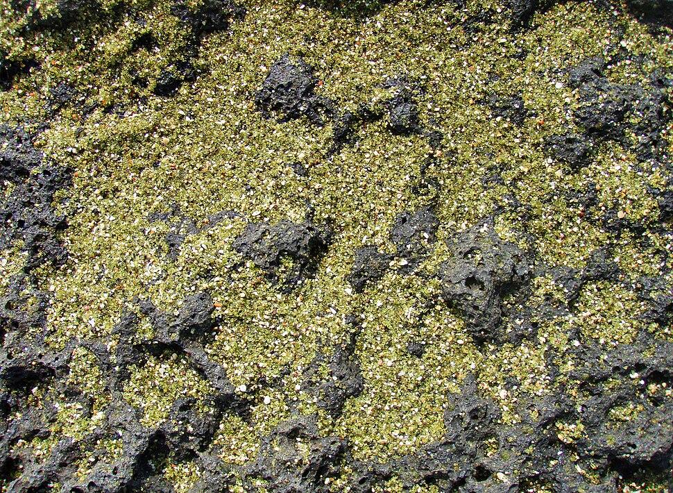 Green sand close up