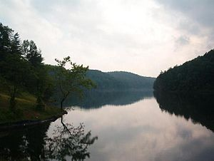 Greenbo Lake - as seen from the dam (June 2003)