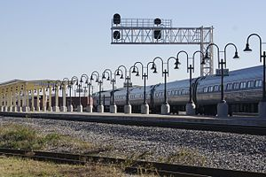J. Douglas Galyon Depot - Image: Greensboro Amtrak Arrival