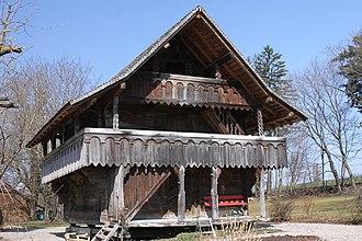 Pierrafortscha - granary of Château d'En-Haut