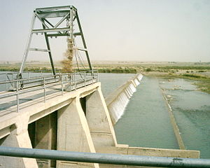 Helmand Province - Grishk Dam, built by the United States around the 1960s.