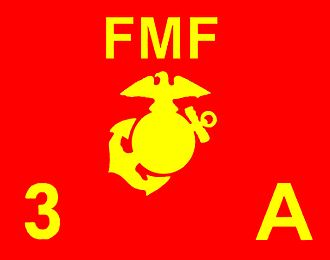 Flag of the United States Marine Corps - A guidon for Company A, 1st Battalion, 3rd Marines