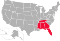 Gulf South Conference map.png