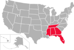 Gulf South Conference map
