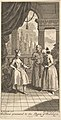 """Gulliver Presented to the Queen of Babilary, Frontispiece to """"The Travels of Mr. John Gulliver"""" MET DP825158.jpg"""