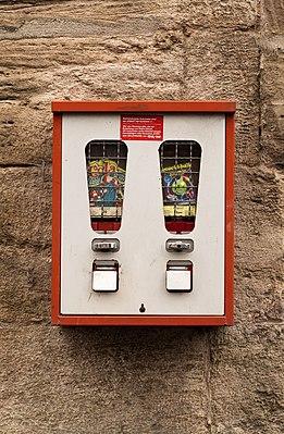 Gumball machine in Wanfried, Germany