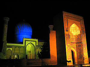 Gur-e-Amir - Gur-e Amir at night