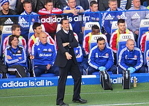 Gus Poyet - Poyet on the touchline as Sunderland manager away to Chelsea in April 2014