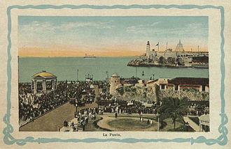 Castillo San Salvador de la Punta - La Punta, Havana, Cuba, The Summer Land of the World (circa 1921-1939)