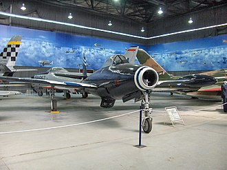Hellenic Air Force Museum - Republic F-84G in the main hangar