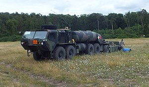 Heavy Expanded Mobility Tactical Truck - Image: HEMTT M978A2 with HEMAT trailer