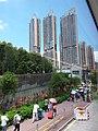 HK Bus 962 view 屯門鄉事會路 Tuen Mun Heung Sze Wui Road August 2018 SSG 瓏門 Century Gateway VCity facade.jpg