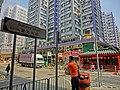 HK Hung Hom 寶其利街 Bulkeley Street name sign view 99 Dock Street n sidewalk temple Mar-2013.JPG
