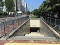 HK Shatin On King Street Tai Chung Kiu Road Pedestrian Tunnel entrance Sept-2012.JPG