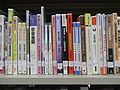 HK Shek Tong Tsui Public Library 石塘咀公眾圖書館 Bookcase Learning reference book back Oct-2010.JPG