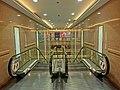 HK TST Harbour City office 英國保誠保險大樓 Prudential Tower night lift lobby escalators Apr-2013.JPG