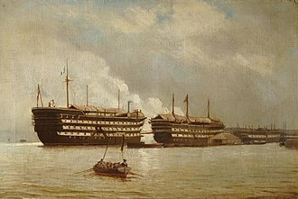 The Gallery of H.M.S. 'Calcutta' (Portsmouth) - HMS Excellent, c.1860