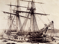 HMS Hannibal by Charles Thurston Thompson, Dec 1853.png