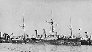 HMS Mildura (1889) - Image: HMS Mildura 1901 AWM 300005