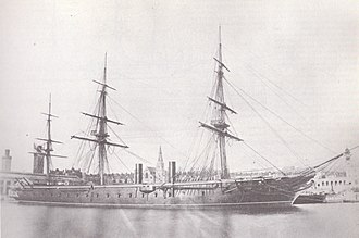 Armour - HMS Warrior during her third commission between 1867 and 1871